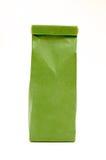 Green tea bag Stock Photo