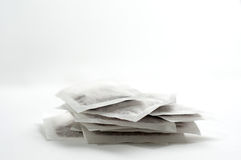 Green tea bags pile Stock Images