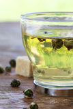 Green tea balls Stock Photos