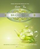 Green tea banner Stock Images