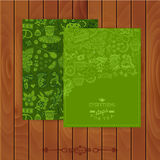 Green tea Branding Design. Set of floral cards. Sweet pattern. C Royalty Free Stock Images
