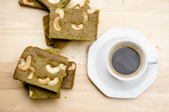 Green tea brownie Royalty Free Stock Photography