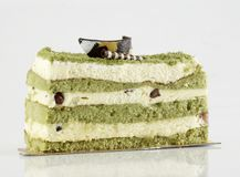 Green tea cake Stock Photography