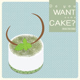 Green Tea Cake Royalty Free Stock Photos
