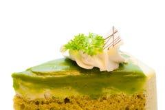 Green tea cake Royalty Free Stock Photo