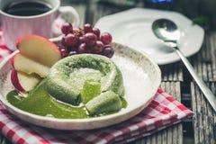 Green tea cake Royalty Free Stock Images