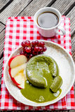 Green tea cake Royalty Free Stock Photography