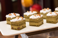 Green tea cake Royalty Free Stock Photo