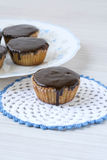 Green tea cakes with chocolate Royalty Free Stock Image