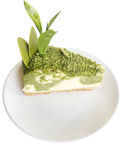 Green tea cheesecake Royalty Free Stock Images