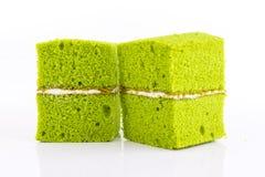 green tea chiffon cake Stock Photos