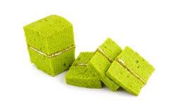 green tea chiffon cake Stock Images