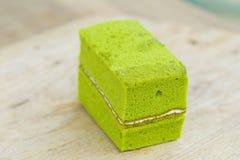 green tea chiffon cake Royalty Free Stock Images