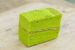 green tea chiffon cake Stock Image