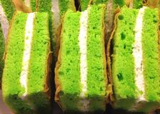 Green tea chiffon cake Royalty Free Stock Photography