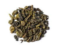 Green tea chinese gunpowder Stock Images