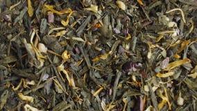 Green tea close up. Loopable rotation. stock footage