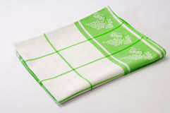 Green tea cloth on a white background Royalty Free Stock Photos