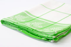 Green tea cloth on a white background Stock Images