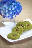 Green tea cookie Stock Photo