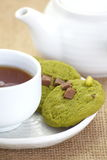 Green tea cookie Stock Image