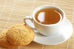 Green tea and cookies Stock Photo