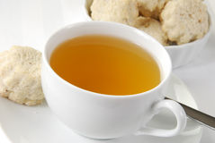Green tea and cookies Royalty Free Stock Photos