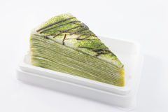Green Tea Crepe Cake Royalty Free Stock Photography