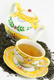 Green tea in cup. Royalty Free Stock Images