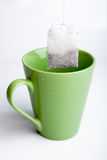 Green tea cup Stock Photos