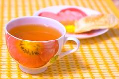 Green tea in a cup Stock Photos