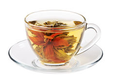 Green tea in cup Royalty Free Stock Photography