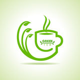 Green tea cup icon Stock Images