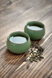 Green tea in cups Royalty Free Stock Photo