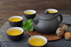 Green tea in cups Stock Photography