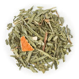 Green tea Decaf Vintage Grey. Blend raw isolated on pure white royalty free stock image