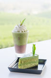 Green tea dessert Royalty Free Stock Photos