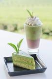 Green tea dessert Royalty Free Stock Image