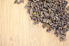 Green tea dried leaves Stock Image