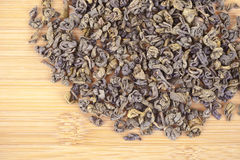 Green tea dried leaves Royalty Free Stock Photography