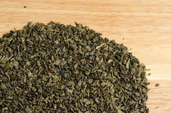Green tea, dried leaves Royalty Free Stock Photo