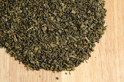 Green tea, dried leaves Stock Photo