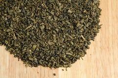 Green tea, dried leaves Stock Photo