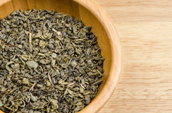 Green tea, dried leaves Royalty Free Stock Photography