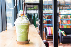 Green tea frappe and blended Stock Image