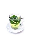 Green tea on white background , mint tea isolated Royalty Free Stock Photo