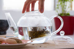 Green tea with ginseng and sage set Royalty Free Stock Photography