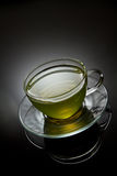 Green tea in glass cup Royalty Free Stock Photo
