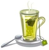 Green tea in glass royalty free illustration