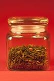 Green Tea Glass Recipient Stock Photography